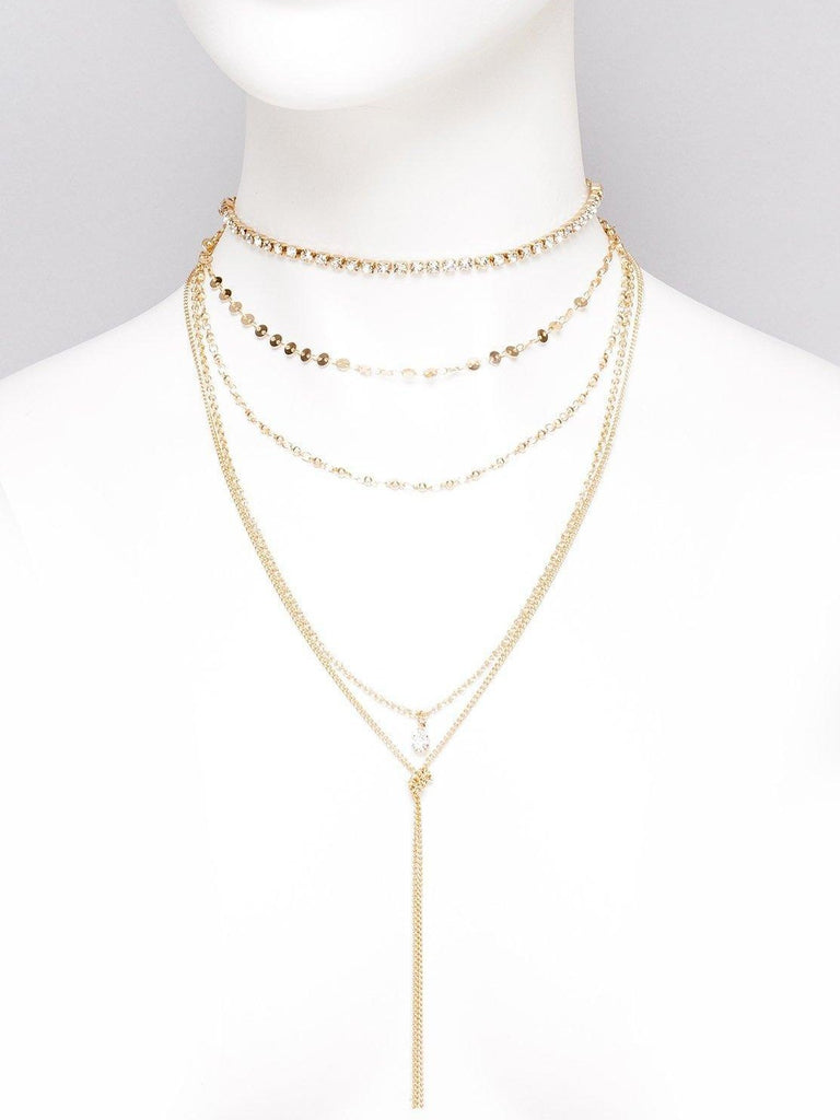 Diamante Cup Chain Choker Necklace