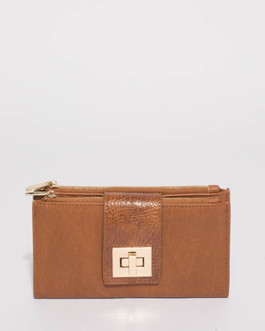 Tan Greta Lock Wallet
