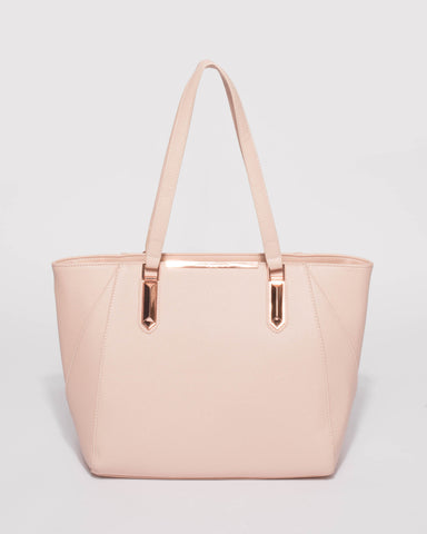 Pink Domi Hardware Tote Bag