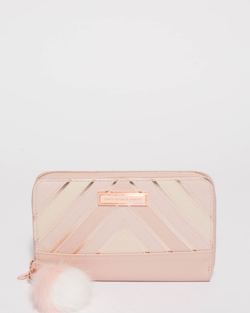 Addie Pink Panel Travel Wallet