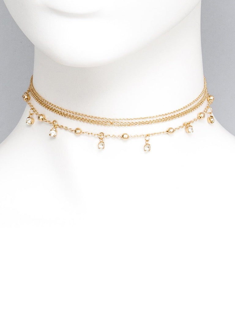 Diamante Stone Choker Necklace