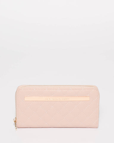 Pink Nina Quilted Wallet