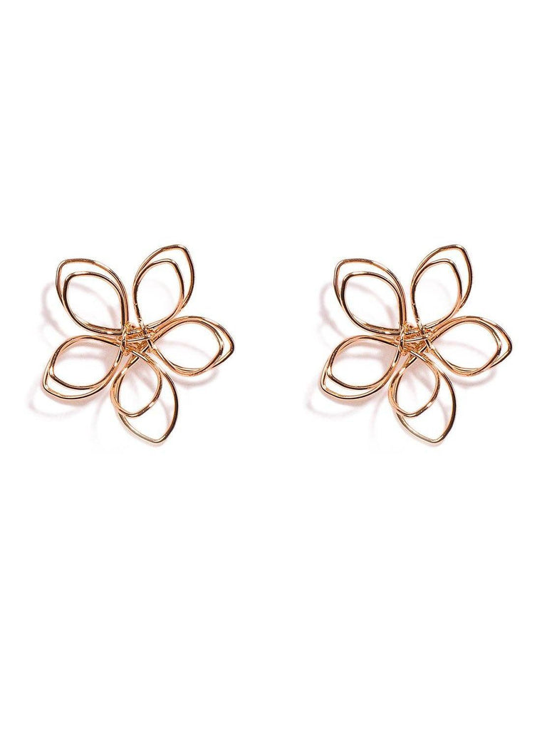 Fine Flower Statement Earrings