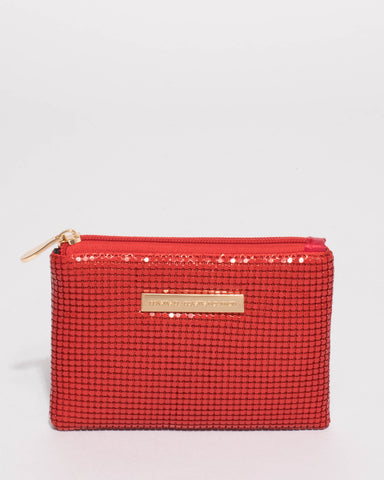 Red Sia Chainmail Purse