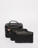 Black Saffiano Cosmetic Case Pack