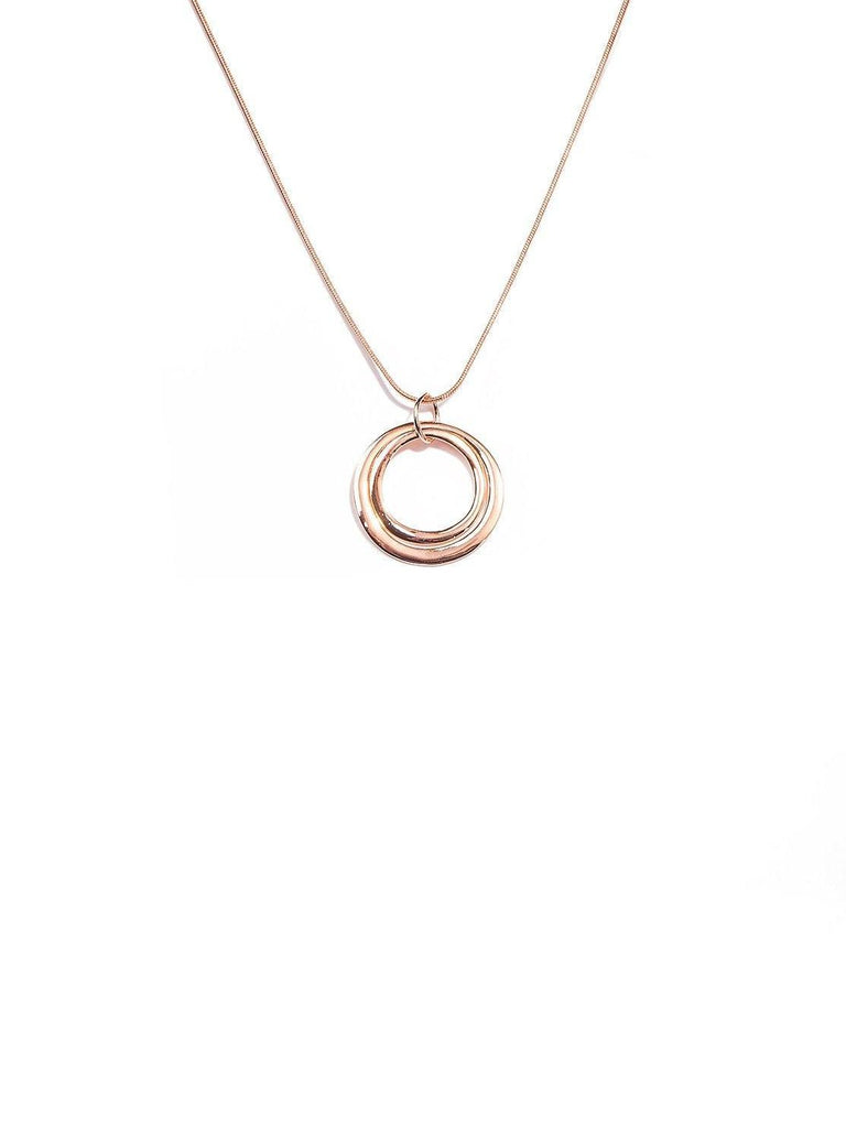 Double circle pendant necklace colette by colette hayman uk double circle pendant necklace aloadofball Image collections