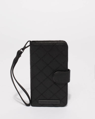 Black Quilted Iphone 6, 7 and 8 Plus Case