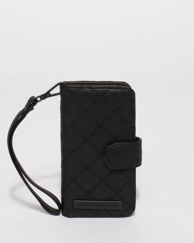Black Quilted Iphone 6, 7 and 8 Purse