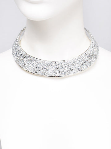 Diamante Stone Encrusted Choker Necklace