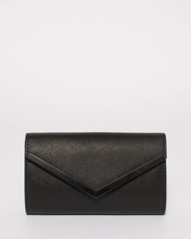 Black Cindy Evening Clutch Bag