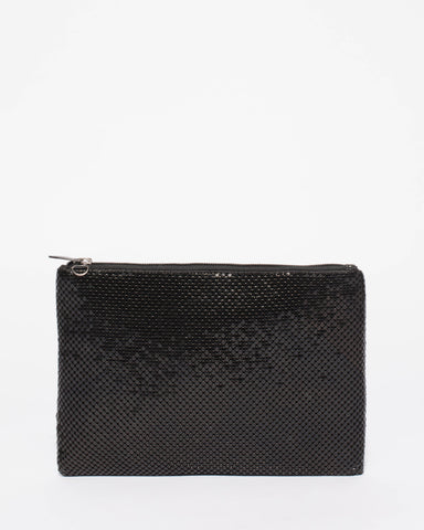 Black Chainmail Peta Crossbody Bag