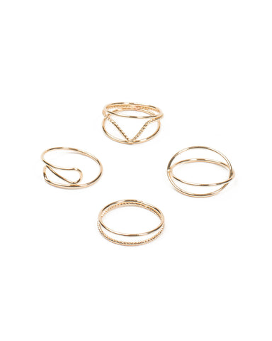 Fine Metal 4 Pack Ring - Small