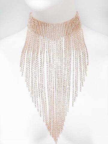 Diamante Tassel Choker Necklace