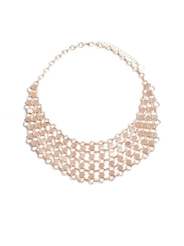 Round Link Chain Bib Necklace