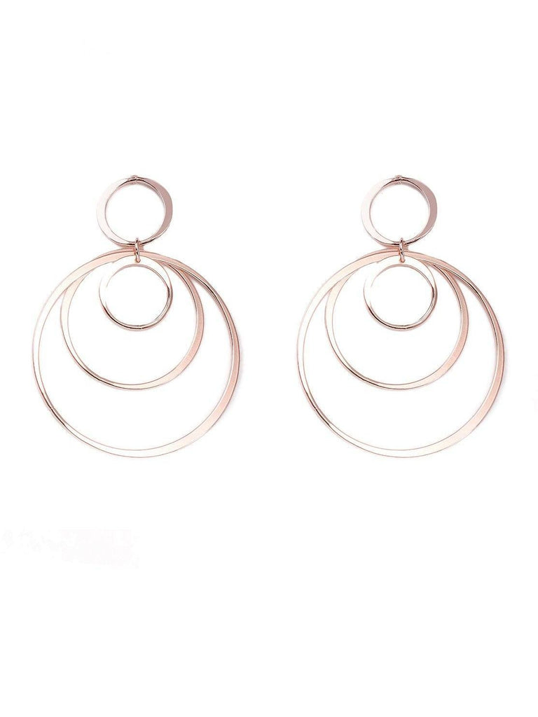 60S Hoop Statement Earrings
