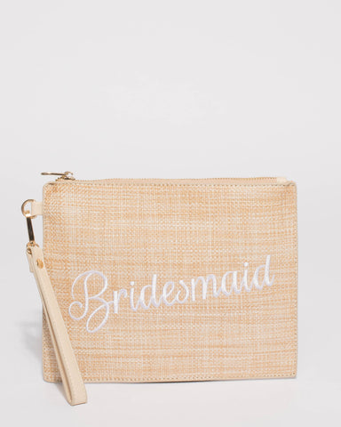 Natural Bridesmaid Clutch Bag