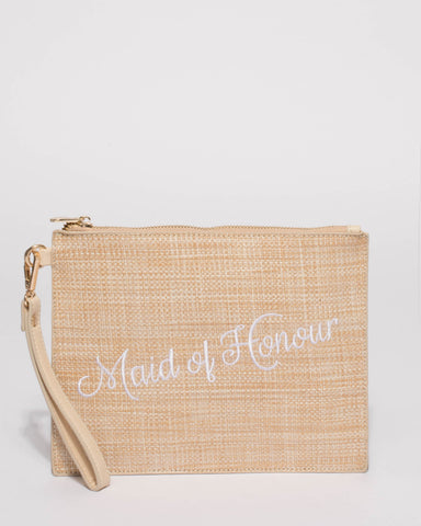 Natural Maid Of Honor Clutch Bag