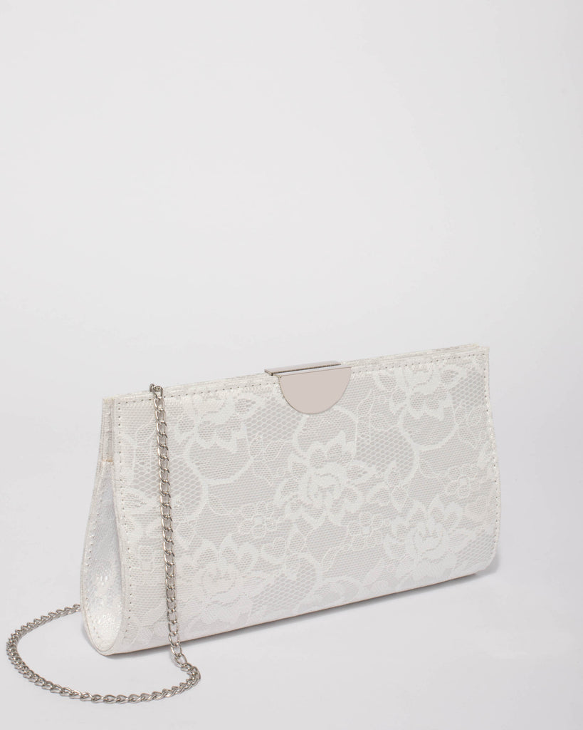 White Lace Carlie Clutch Bag