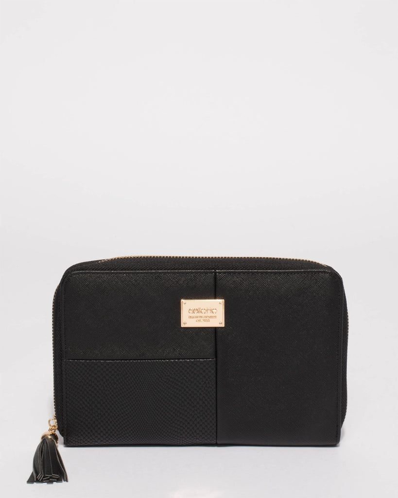 Black Talissa Panelled Travel Wallet