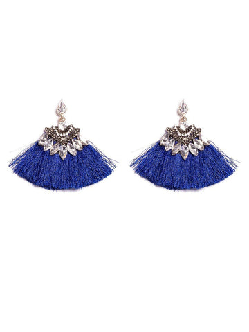 Navette Stone Tassel Sm Earrings