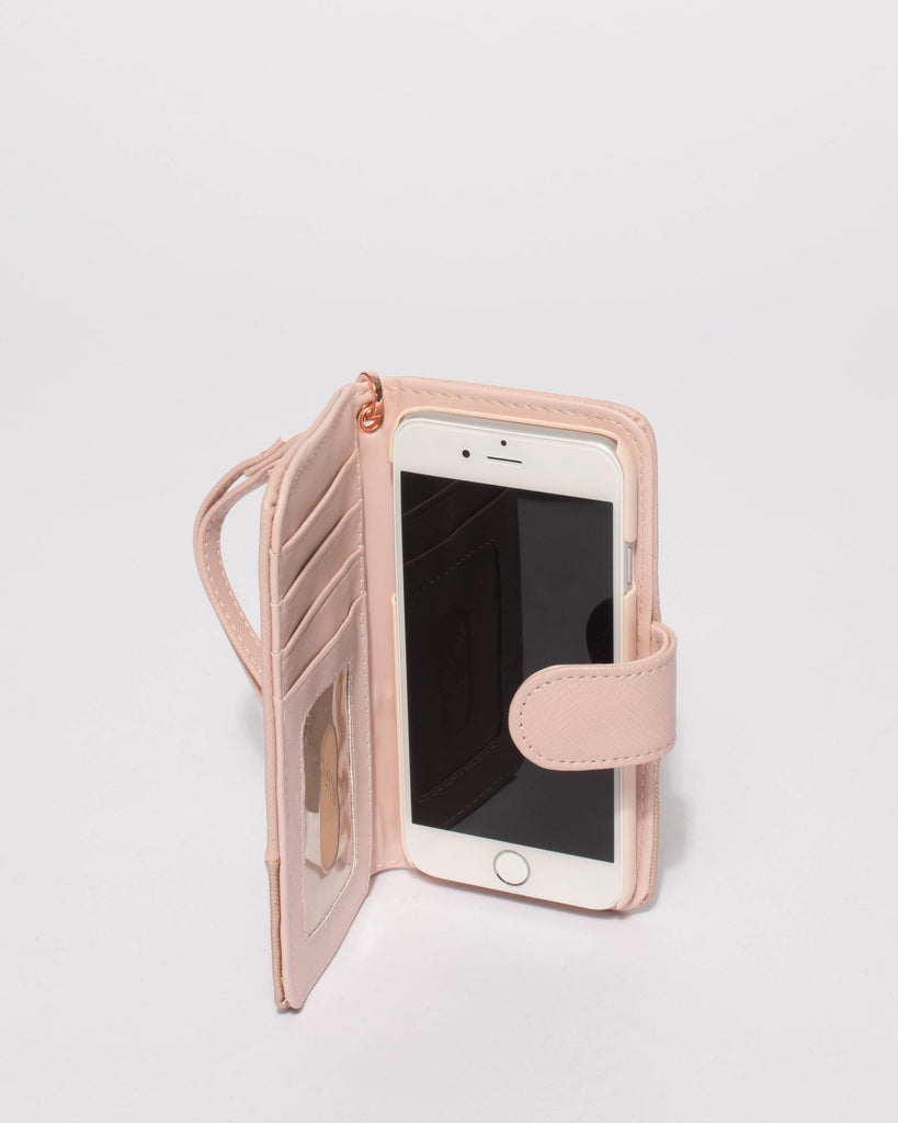 Pink Saffiano Iphone 6, 7 & 8 Purse