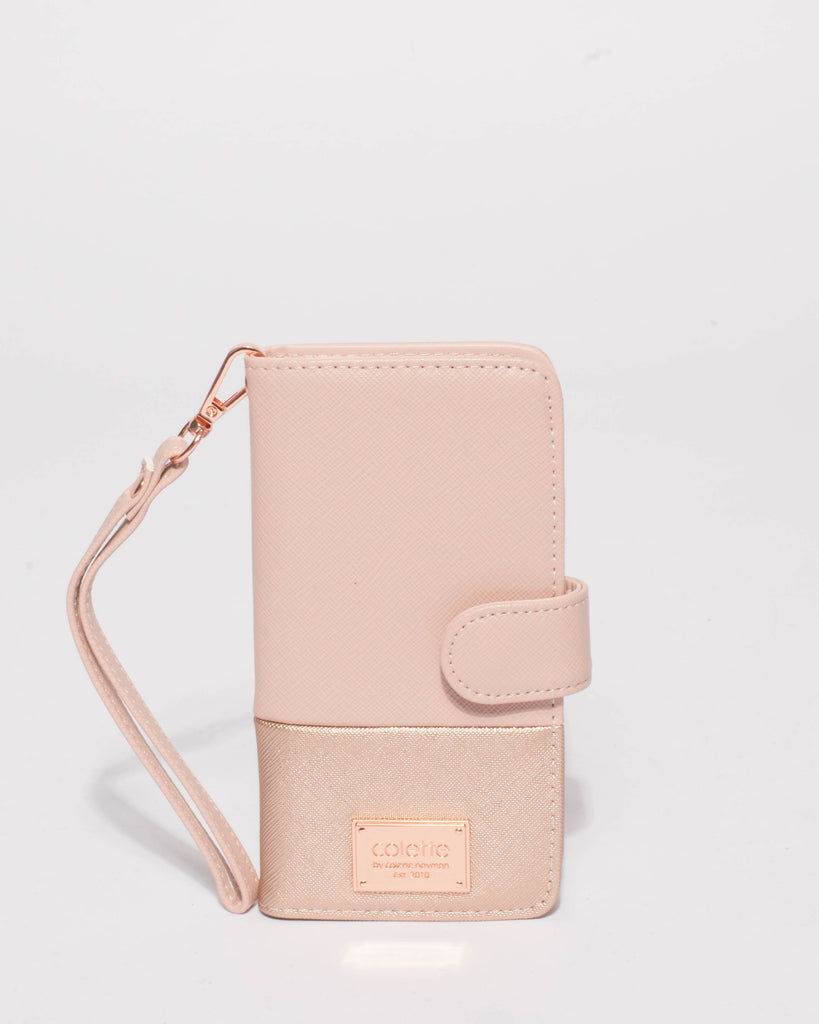 Pink Saffiano Iphone 6, 7 & 8 Plus Purse