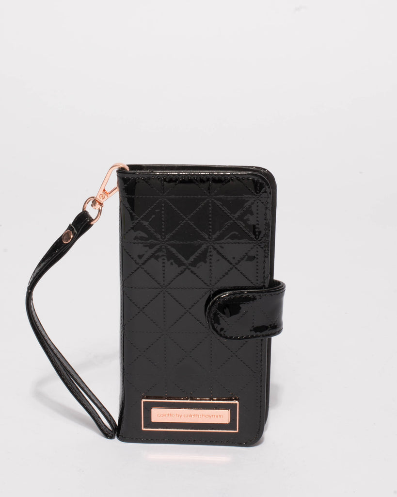 Black Patent Iphone 6, 7 & 8 Plus Purse
