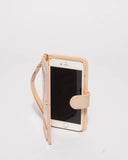 Nude Patent Iphone 6, 7 & 8 Plus Purse