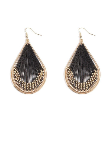 Beaded Thread Earrings