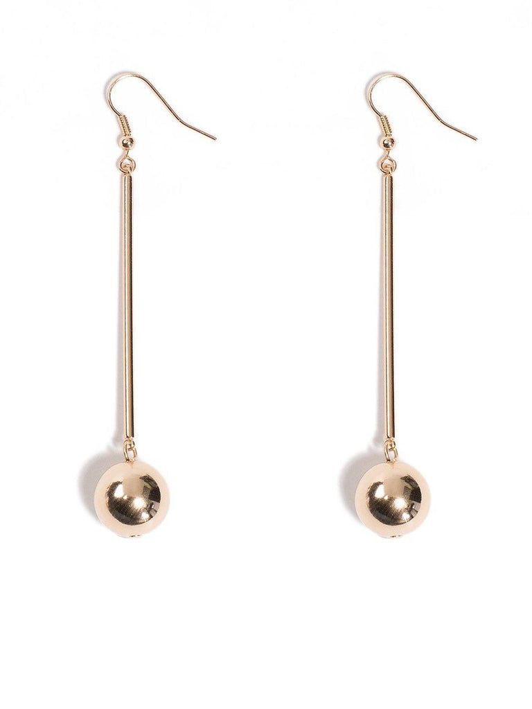 Ball On Bar Drop Earrings