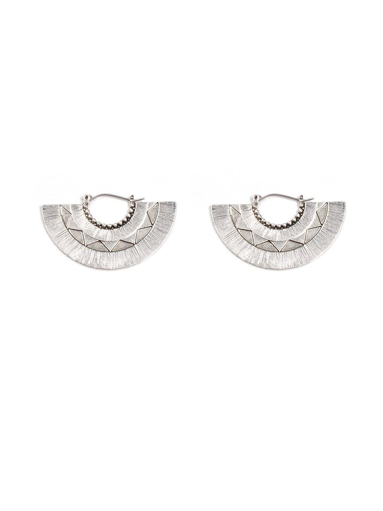 Texture Fan Hoop Earrings