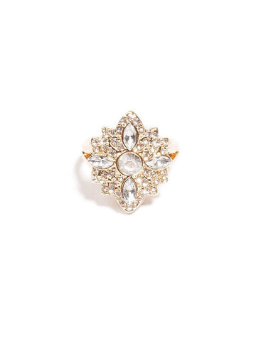 Navette Stone Glam Ring - Medium