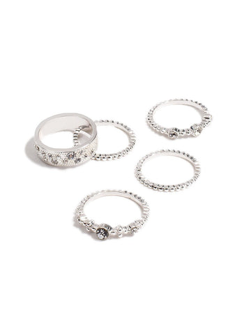 5 Pack Multi Band Ring - Large