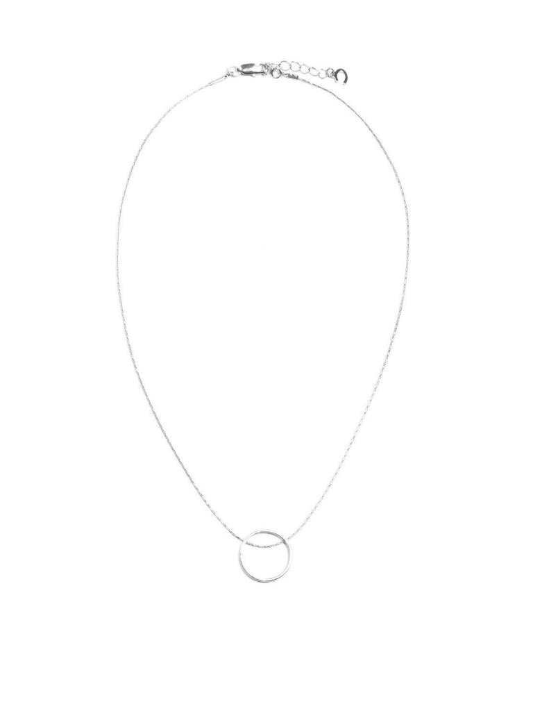 Fine Circle Pendant Necklace