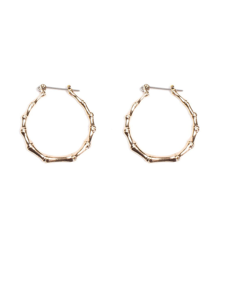 Mini Bamboo Hoop Earrings