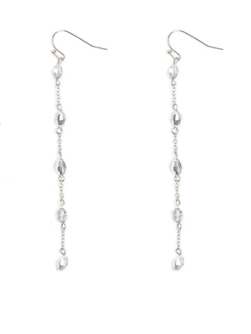 Chain Bead Drop Earrings