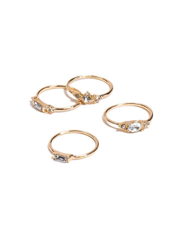 4 Pack Band Ring - Small