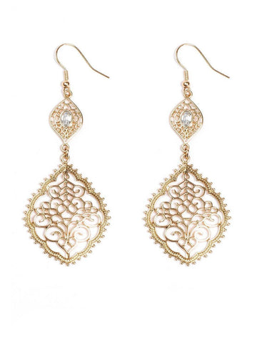 Filigree Stone Drop Earrings