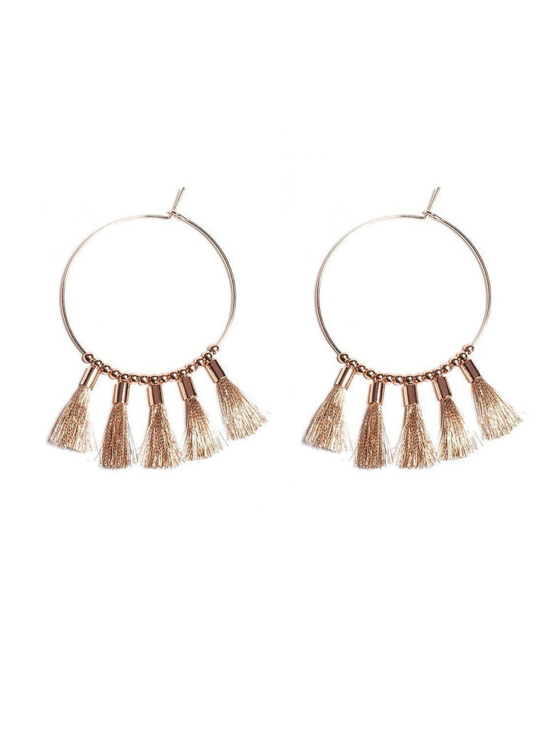 Tassel Hoop 45mm Hoop Earrings