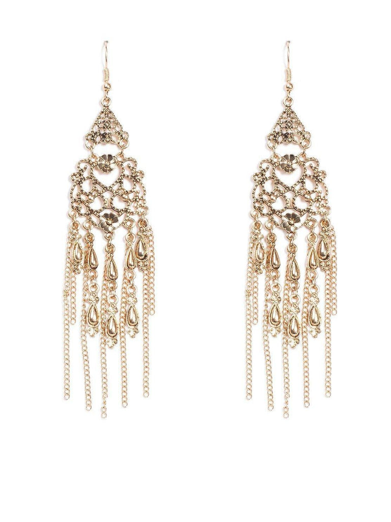 Teardrop Filigree Statement Earrings
