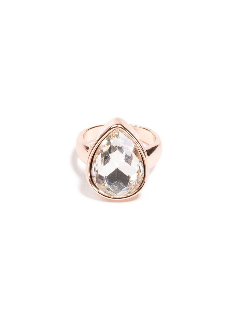 Teardrop Stone Ring - Small