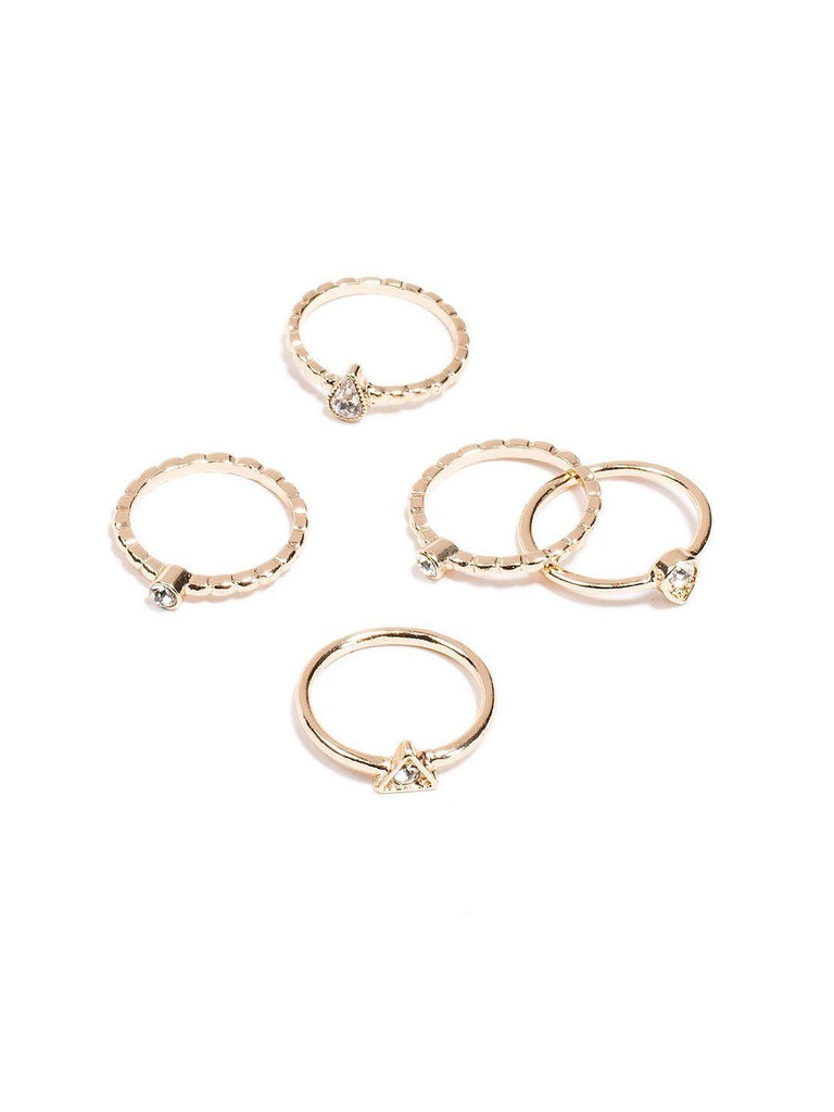 Mixed Stone Multi Pack Fine Rings - Large