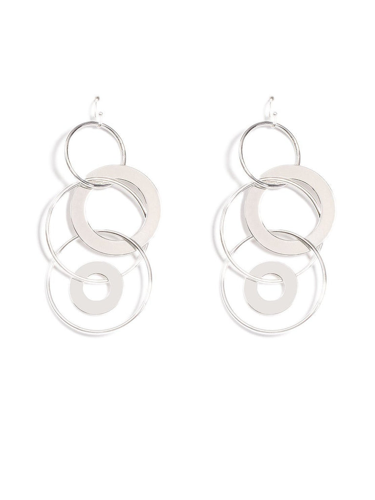 Metal Circles Drop Earrings