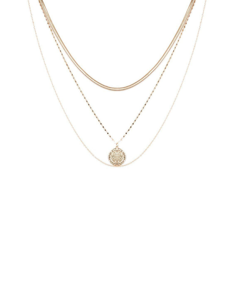 Coin Multi Layer Necklace
