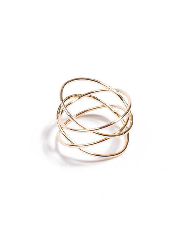 Fine Crossover Ring