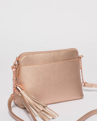 Rose Gold Karen Crossbody Bag