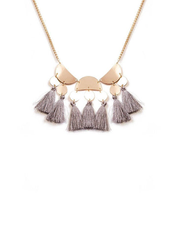 Disc  With Tassel Stonenecklace