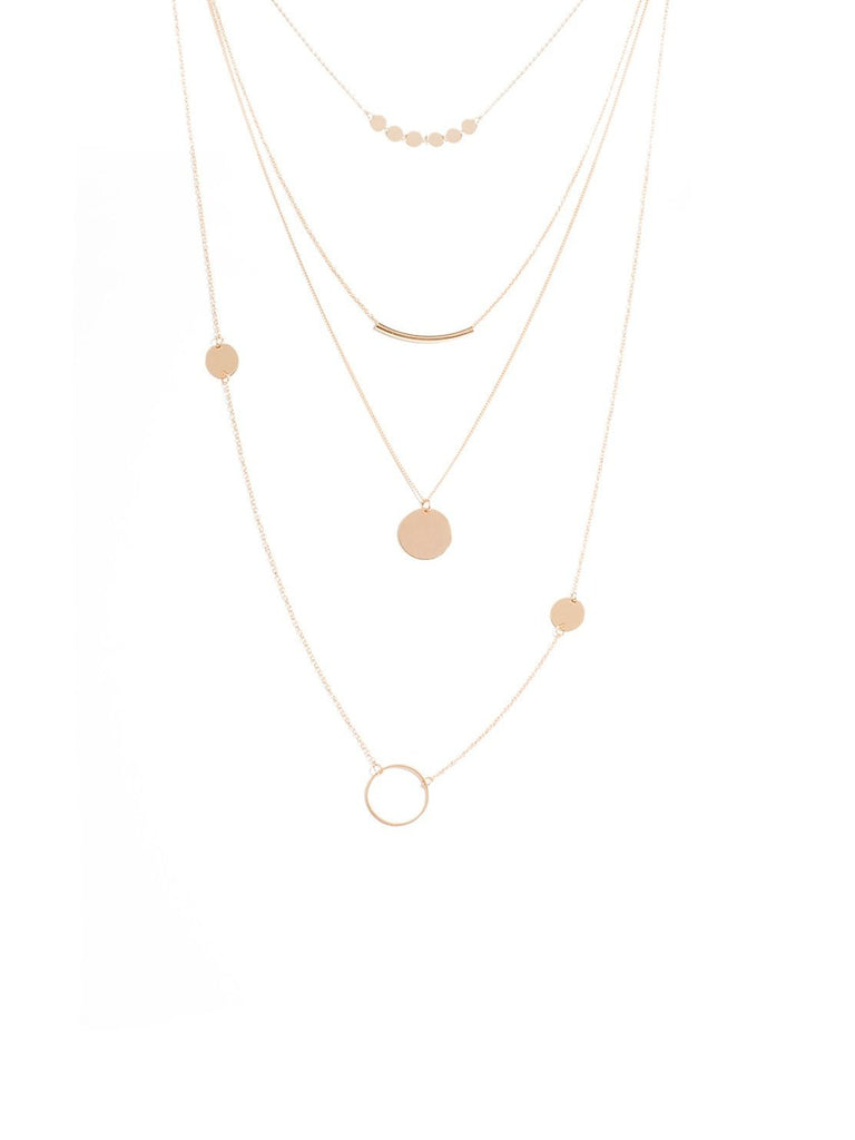 Multi Chain Disc Necklace