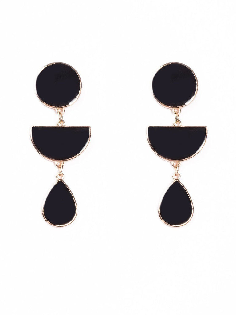 Enamel Shapes Drop Earrings