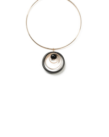 Ball Circle Torque Necklace